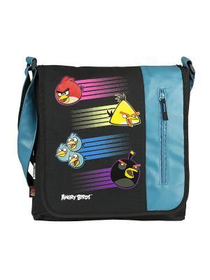 Сумка спортивная Angry Birds. Цвет: голубой, черный