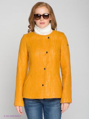 Куртка RIO VERTI. Цвет: горчичный