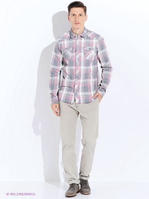 Рубашка GARCIA. Цвет: серый, розовый