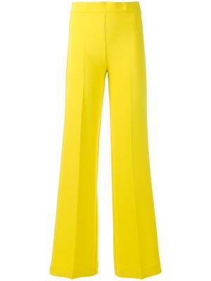 Расклешенные классические брюки P.A.R.O.S.H.. Цвет: жёлтый и оранжевый
