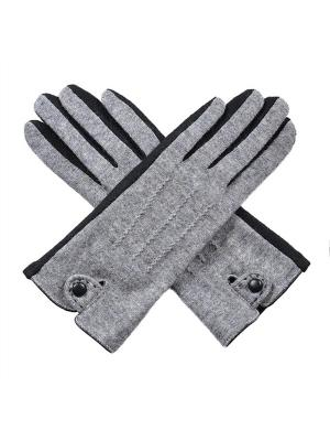 Перчатки Venera. Цвет: серый