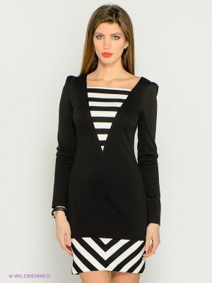 Платье Marlen. Цвет: черный, молочный