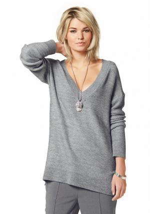 Пуловер Laura Scott. Цвет: кремовый, серый меланжевый