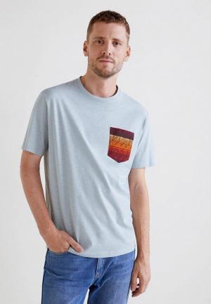 Футболка Mango Man. Цвет: голубой