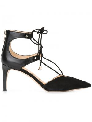 Туфли-лодочки Taylor на шнуровке Sam Edelman. Цвет: чёрный