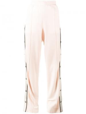 Спортивные брюки с высокой талией Alessandra Rich. Цвет: розовый и фиолетовый