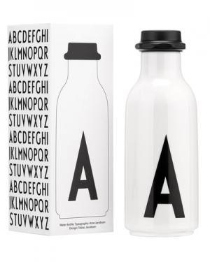Фляга Design Letters. Цвет: белый