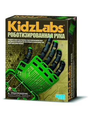 Роботизированная рука 4M. Цвет: зеленый, светло-коричневый