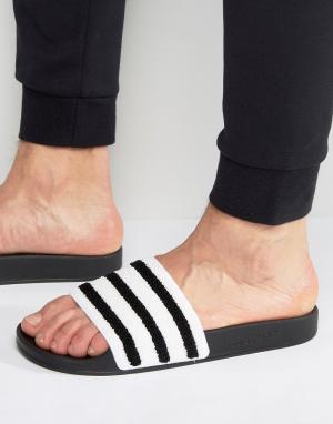 Adidas Originals Черные шлепанцы Adilette BB0125. Цвет: черный