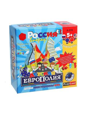 Настольная игра Детская европолия PLAY LAND. Цвет: бежевый, красный, коралловый, золотистый, кремовый, желтый, белый, зеленый, бирюзовый, индиго, серый, коричневый, голубой, лиловый, малиновый