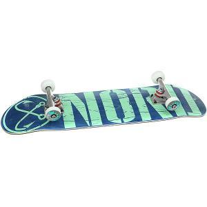 Скейтборд в сборе  Лого Blue/Mint 31.75 x 8 (20.3 см) Nord. Цвет: синий,светло-зеленый