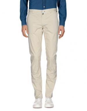 Повседневные брюки LUIGI BORRELLI NAPOLI. Цвет: слоновая кость