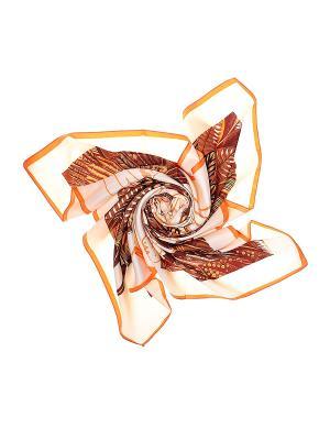 Платок Migura. Цвет: бежевый, коричневый, оранжевый
