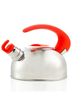 Чайник со свистком Brandani. Цвет: красный