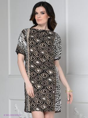 Платье Levall. Цвет: темно-коричневый