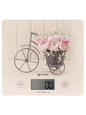 Весы кухонные VITEK 8016 (CA)  Макс вес 10 кг.Настенное крепление Электропитание: 1xCR2032.. Цвет: светло-бежевый