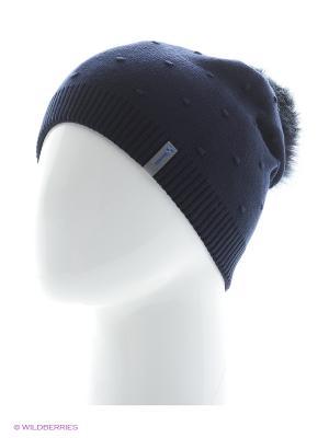 Шишка Беркле шапка женская с помпоном Berkle. Цвет: темно-синий
