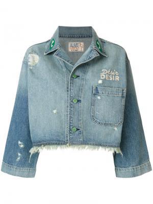 Укороченная джинсовая куртка Sandrine Rose. Цвет: синий