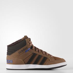 Кроссовки дет. спорт.  neo adidas. Цвет: темно-коричневый