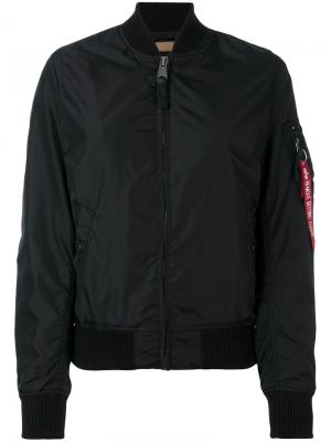 Куртка-бомбер на молнии Alpha Industries. Цвет: чёрный