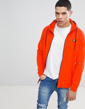 Nike Оранжевый худи на молнии Modern 805130-891. Цвет: оранжевый