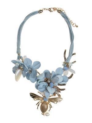 Колье Olere. Цвет: голубой,золотистый