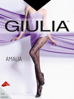 Фантазийные колготки AMALIA 05, 2 пары (20 ден) Giulia. Цвет: черный