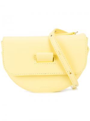 Поясная сумка Anna Wandler. Цвет: жёлтый и оранжевый