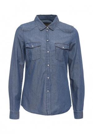 Рубашка джинсовая Vero Moda. Цвет: синий