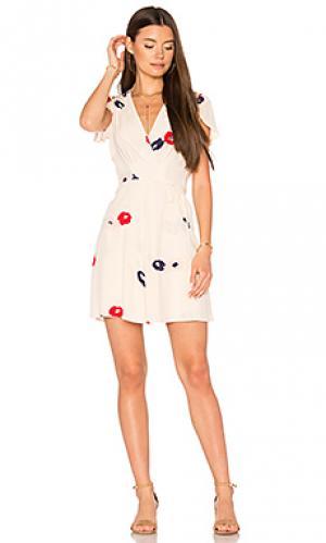 Платье с запахом dancer ROLLAS ROLLA'S. Цвет: кремовый