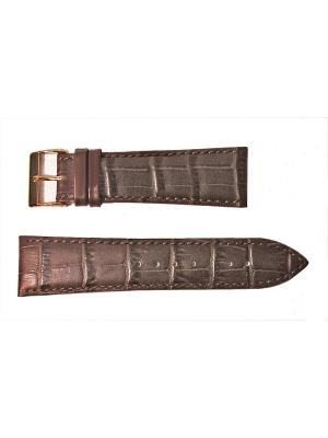 Ремень для часов, им. АЛЛИГАТОРА, коричневый, 24 х 20 Othello. Цвет: коричневый