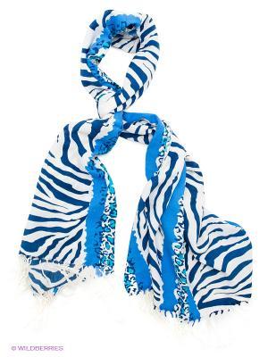 Платок Sabellino. Цвет: синий, белый