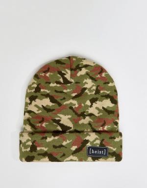 Heist Камуфляжная шапка-бини Hesit. Цвет: зеленый