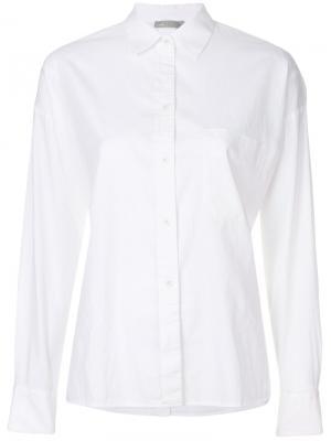 Классическая рубашка Vince. Цвет: белый