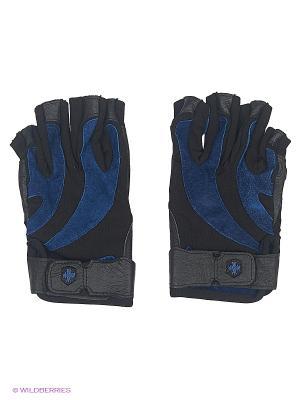 Перчатки для фитнеса мужские BioFlex HARBINGER. Цвет: черный, синий