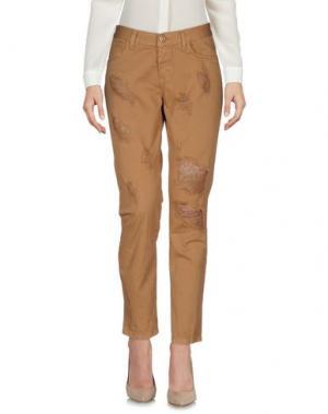 Повседневные брюки H2O ITALIA. Цвет: верблюжий