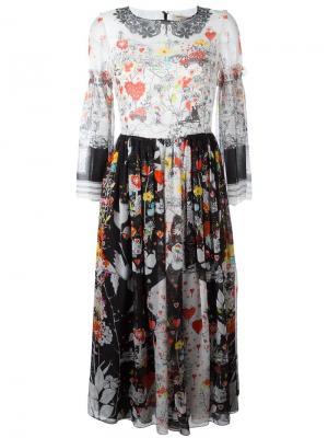 Расклешенное платье с принтом Piccione.Piccione. Цвет: многоцветный