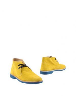 Полусапоги и высокие ботинки SIMONE MARIOTTI. Цвет: желтый