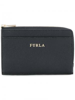 Маленький кошелек на молнии Furla. Цвет: чёрный