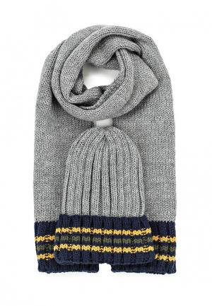 Комплект шапка и шарф Chicco. Цвет: серый