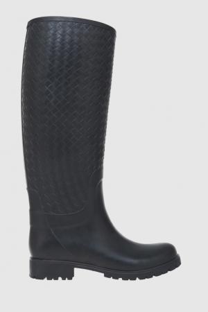 Резиновые сапоги Bottega Veneta. Цвет: черный