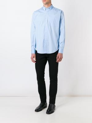 Классическая рубашка Ami Alexandre Mattiussi. Цвет: синий