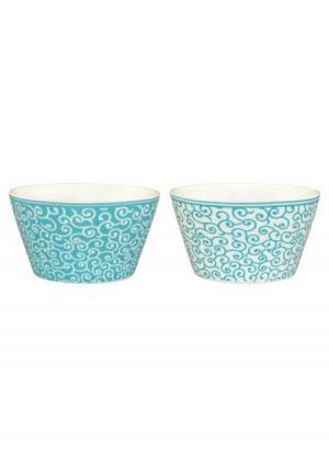 Набор салатников (2 шт.) Elan Gallery. Цвет: белый (белый, бирюзовый)