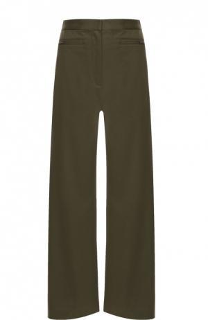 Укороченные широкие брюки с завышенной талией T by Alexander Wang. Цвет: зеленый