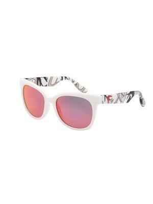 Солнцезащитные очки McQueen. Цвет: белый, прозрачный