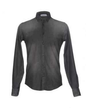 Джинсовая рубашка AGLINI. Цвет: серый