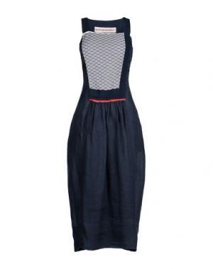 Длинное платье GENTRYPORTOFINO. Цвет: темно-синий