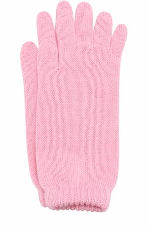 Удлиненные вязаные перчатки Catya. Цвет: розовый