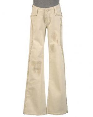 Джинсовые брюки 9.2 BY CARLO CHIONNA. Цвет: бежевый