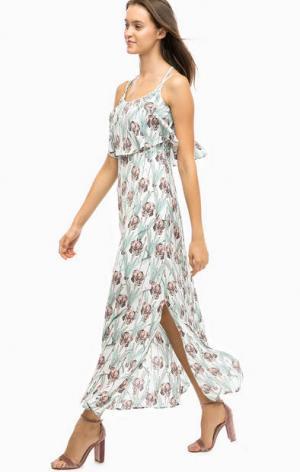 Платье на тонких бретелях с цветочным принтом Darling. Цвет: цветочный принт